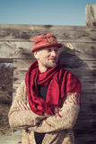Confident man in a stylish hat Royalty Free Stock Images