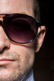 Confident Man with Sunglasses Portait Royalty Free Stock Photos