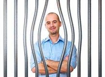 Confident man try to escape Stock Images