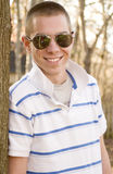 Confident Man Two. Confident young man wearing sunglasses and smiling Stock Photos
