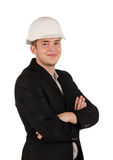 Confident man wearing a hardhat Stock Photography