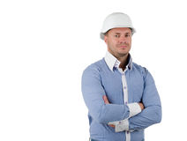 Confident man wearing a hardhat Stock Photos