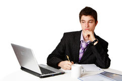 Confident man at work Royalty Free Stock Photography