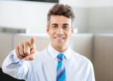 Confident Manager Pointing At You Stock Image