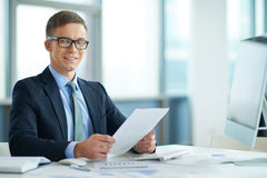Confident manager Stock Images