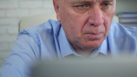 Confident manager working on laptop in office accessing financial information.  stock video