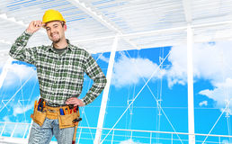 Confident manual worker Royalty Free Stock Photos