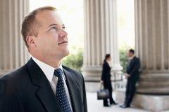 Confident Mature Businessman Looking Away Stock Photos