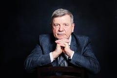 Confident Mature Businessman in a Suit. Senior Man Stock Photography