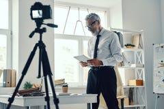 Free Confident Mature Man In Elegant Shirt And Tie Stock Photo - 164644170