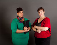 Confident Mature Plus Size Buisiness Women Royalty Free Stock Images