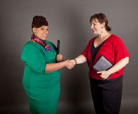 Confident Mature Plus Size Buisiness Women Royalty Free Stock Photo