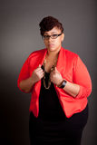 Confident Mature Plus Size Buisiness Women Royalty Free Stock Photos