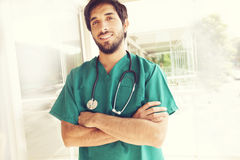 Confident medical doctor Stock Photography