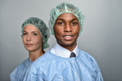 Confident Medical Professionals in surgery gown Royalty Free Stock Image