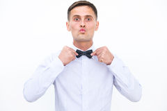 Confident men isolated on the white background Stock Photography