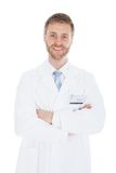 Confident Mid Adult Male Doctor With Stethoscope Royalty Free Stock Image
