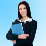 Confident middle aged corporate woman Stock Images