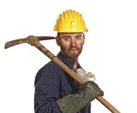Confident miner Stock Photo
