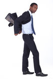 Confident model wearing a suit Royalty Free Stock Photography