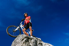 Confident mountain bike Royalty Free Stock Photo