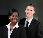 Confident multi-ethnic business couple Royalty Free Stock Photography