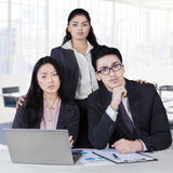 Confident multi ethnic business team in office Royalty Free Stock Images