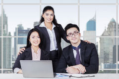 Confident multi ethnic business team in the office Royalty Free Stock Photos
