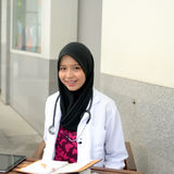 Confident Muslim medical student Royalty Free Stock Photo