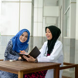 Confident Muslim medical student Stock Photos