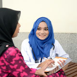 Confident Muslim medical student Royalty Free Stock Image