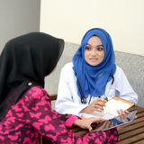 Confident Muslim medical student Stock Images