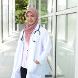 Confident Muslim medical student
