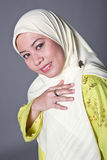 Confident Muslim woman in scarf, isolated. Stock Photography