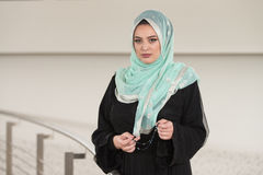 Confident Muslim Woman In Scarf Royalty Free Stock Photo