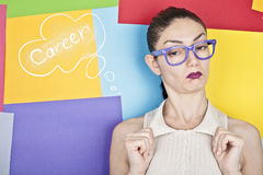 Confident Nerd Female Royalty Free Stock Image