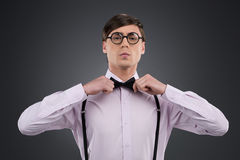 Confident nerd. Royalty Free Stock Image