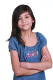 Confident Nine Year Old Girl Royalty Free Stock Photo