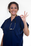 Confident nurse Stock Image