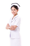 Confident nurse crossing her arms Royalty Free Stock Images