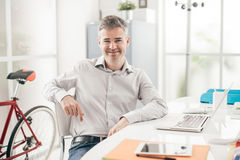 Businessman working in the office Royalty Free Stock Image
