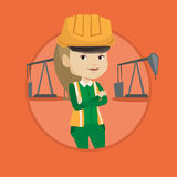 Confident oil worker vector illustration. Stock Photography