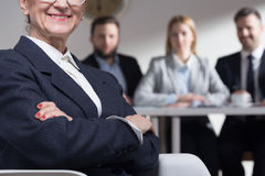 Confident older woman in suit and job interview Royalty Free Stock Photo