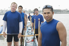 Confident Outrigger Canoeing Team Stock Photos