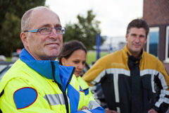 Confident paramedic stock photo