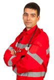 Confident paramedic man Royalty Free Stock Photos