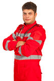 Confident paramedic man Royalty Free Stock Images