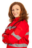Confident paramedic woman Royalty Free Stock Photo