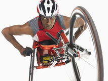 Confident Paraplegic Cycler Royalty Free Stock Photography
