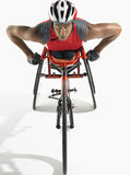 Confident Paraplegic Cycler Royalty Free Stock Photos